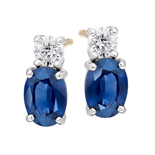 Sapphire and Diamond earings