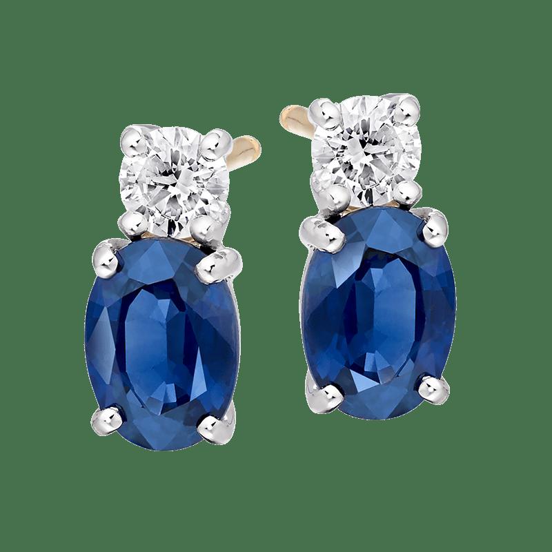 Sapphire and Diamond earings