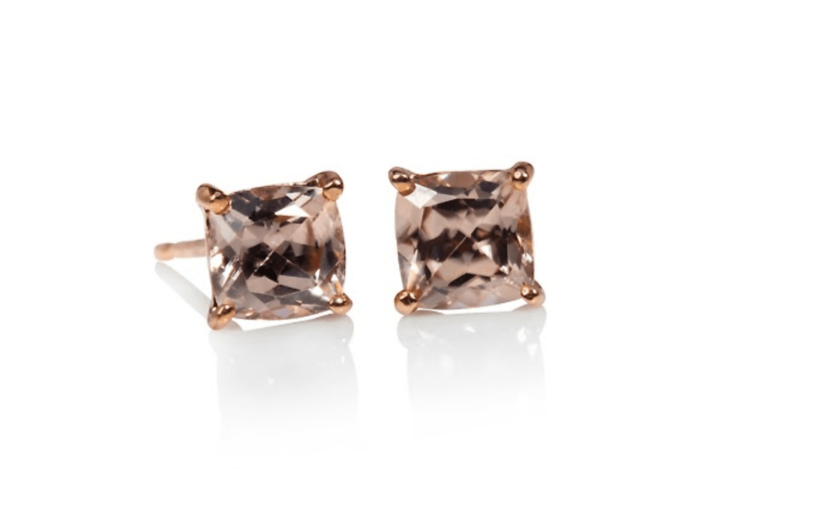9ct Rose gold Zircon earrings