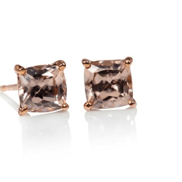 9ct Rose gold Zircon earrings